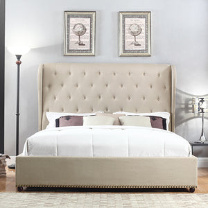Paris Bedframe Queen Size Beige