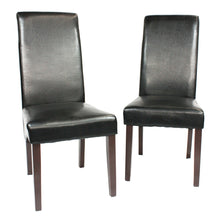 Load image into Gallery viewer, Swiss Wooden Dining Chairs Black 2x