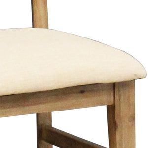 Seashore Dining Chair Fabric Seat