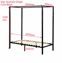 Load image into Gallery viewer, 4 Four Poster Single Bed Frame