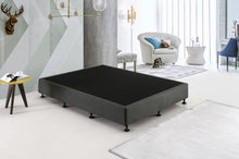 Load image into Gallery viewer, Palermo Queen Ensemble Bed Base Platinum Graphite Linen Fabric