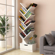 Load image into Gallery viewer, Tree Bookshelf Bookcase Book Organizer 9-Tier Multipurpose Shelf Display Racks