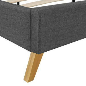 Albany Bed Frame Dark Grey Fabric King Size