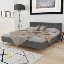 Load image into Gallery viewer, Albany Bed with Memory Foam Mattress Dark Grey Fabric King Size