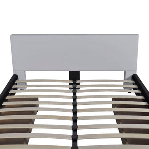 Belmont Bed Frame White Faux leather Double Size