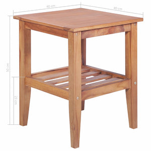 Coffee Table 40x40x50 cm Square Solid Teak