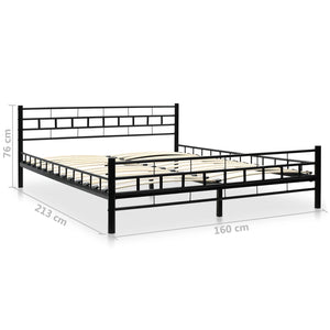 Bexley Bed Frame Black Metal Queen