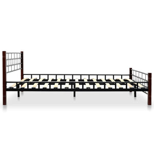 Classical Bed Frame Black Metal Double