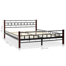 Load image into Gallery viewer, Classical Bed Frame Black Metal Double