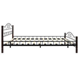 Bed Frame Black Metal Queen