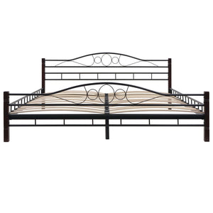 Bed Frame Black Metal  King