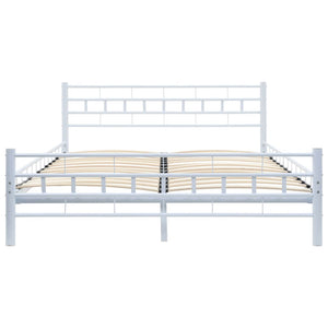 Bexley Bed Frame White Metal Double