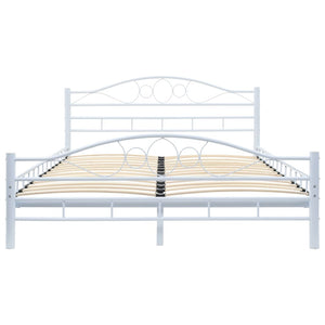 Blendon Bed Frame White Metal Double