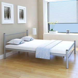 Coombe Bed Frame Grey Metal Double Size