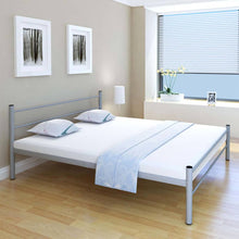 Load image into Gallery viewer, Coombe Bed Frame Grey Metal King Size