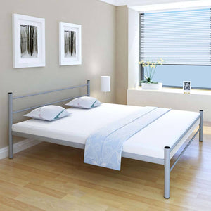 Coombe Bed Frame Grey Metal King Size
