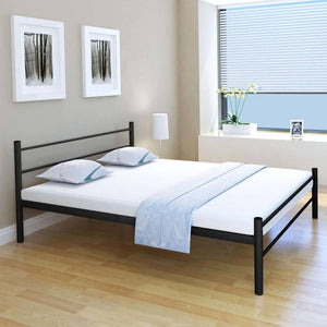 Coombe Bed Frame Black Metal Queen Size