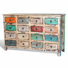 Load image into Gallery viewer, Reclaimed Cabinet Solid Wood Multicolour with 16 Drawers