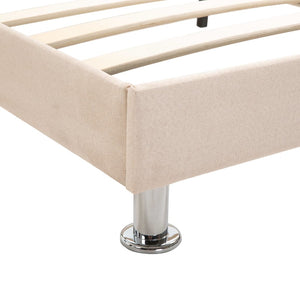Toni Bed Frame Cream Fabric Double