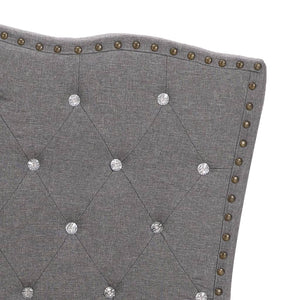 Toni Bed Frame Light Grey Fabric  King