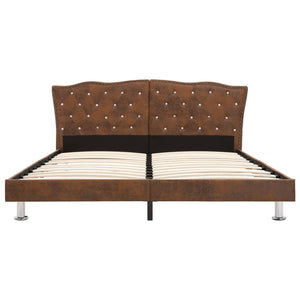 Toni Bed Frame Brown Fabric  King