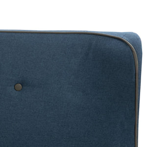 Noak Bed Frame Blue Fabric  Double