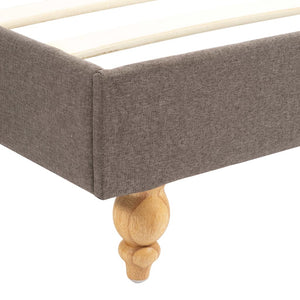 Noak Bed Frame Taupe Fabric   King