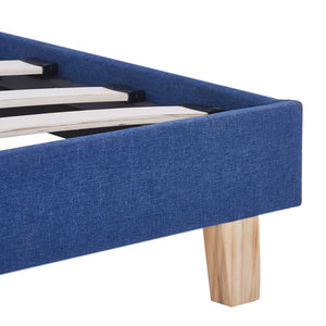 Tess Bed Frame Blue Fabric Double