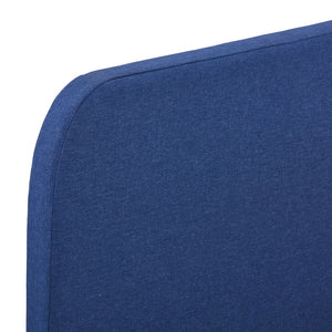Tess Bed Frame Blue Fabric Queen
