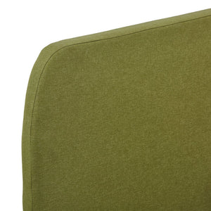 Tess Bed Frame Green Fabric Queen