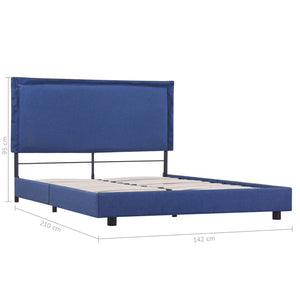 Marks Bed Frame Blue Fabric King Single