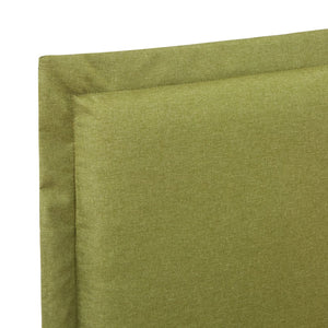 Marks Bed Frame Green Fabric Queen