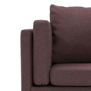 Corner Sofa Brown Fabric