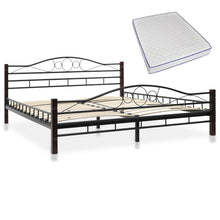 Load image into Gallery viewer, Bed with Memory Foam Mattress Black Metal Queen