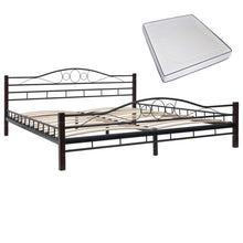 Load image into Gallery viewer, Bed with Memory Foam Mattress Black Metal  King