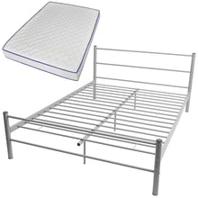 Load image into Gallery viewer, Coombe Grey Bed Frame with Memory Foam Mattress Double Size