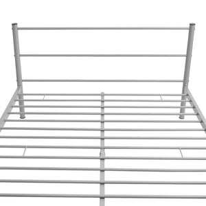 Coombe Grey Bed Frame with Memory Foam Mattress Double Size