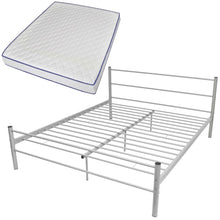 Load image into Gallery viewer, Coombe Grey Bed Frame with Memory Foam Mattress Queen Size