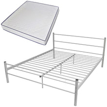 Load image into Gallery viewer, Coombe Grey Bed Frame with Memory Foam Mattress King Size