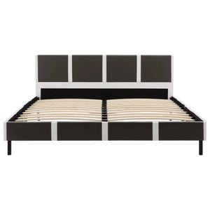 Fulham Bed Frame Grey and White Faux Leather King Single