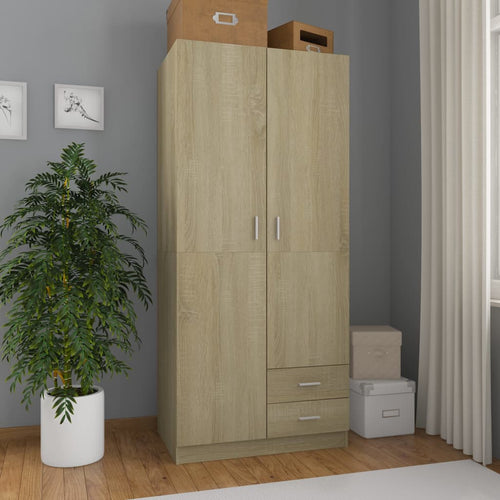 Wardrobe Sonoma Oak 80x52x180 cm Chipboard