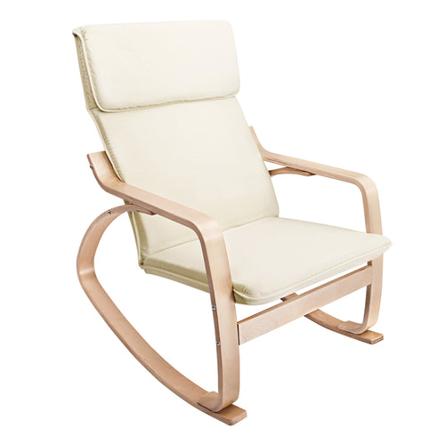 Artiss Fabric Rocking Armchair - Beige
