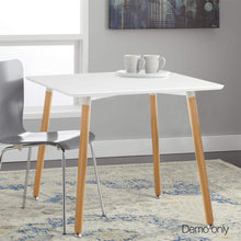 Load image into Gallery viewer, Artiss Beech Wood Dining Table - White