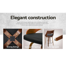 Load image into Gallery viewer, 2xArtiss Wooden Bar Stools Swivel Bar Stool Kitchen Dining Chair Cafe Black 76cm