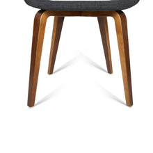 Load image into Gallery viewer, Artiss Set of 2 Timber Wood and Fabric Dining Chairs - Charcoal