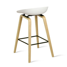 Load image into Gallery viewer, Artiss Set of 2 Wooden Backless Bar Stools - White