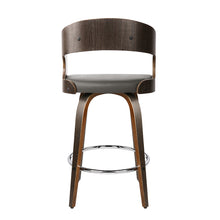 Load image into Gallery viewer, Artiss Set of 2 Walnut Wooden Bar Stool - Grey and Walnut