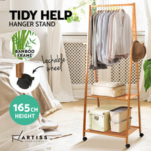 Load image into Gallery viewer, Artiss Bamboo Hanger Stand Wooden Clothes Rack Display Shelf