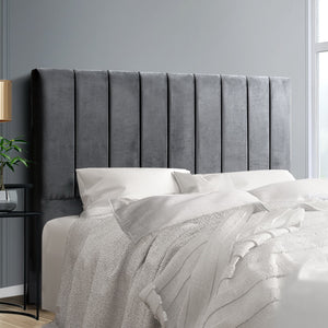 Artiss Double Size Bed Head Headboard Bedhead Bed Frame Base VELA Grey Fabric