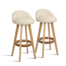 Load image into Gallery viewer, Artiss Set of 2 PU Leather Bar Stools - Beige